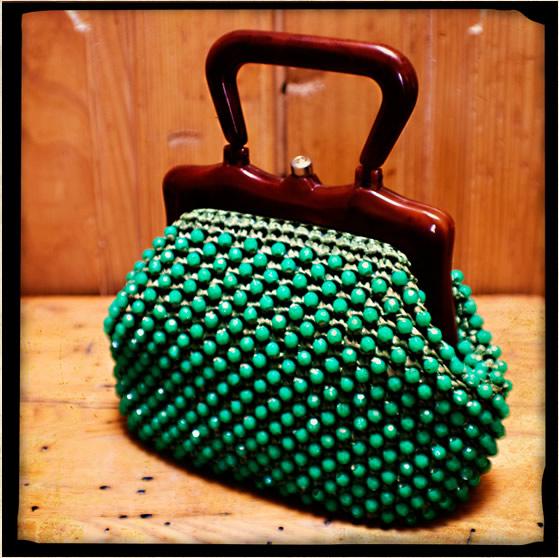 A Vintage Jarma Kelly Green Handbag, $62