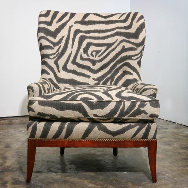 An Again & Again Zebra-Print Chair