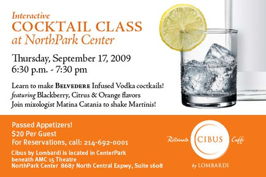 SMUStyle Dine Dish: Cibus Cocktail Class