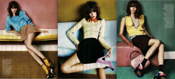 Color Blocking + Lady-Like Style via UK Vogue, August 2010